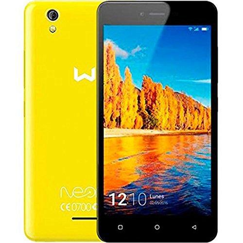 Weimei Neon - Smartphone de 5' (Mediatek Quad Core, cámara Trasera 5 MP, cámara Frontal 2 MP, RAM de 1 GB, Memoria Interna DE 16 GB, Dual SIM, WeOS Android 6.0) Amarillo