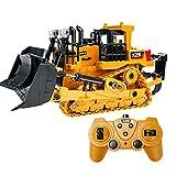 DEARLOYEA 1/24 2.4GHz 9 CH 3.7V 800 mAh Carrinho de controle remoto, trator de brinquedo, escavadora, presente para crianças, ata velocidade, trator de engenharia