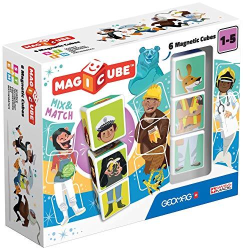 Geomag 00123 Magiccube Magnetwürfel, Mehrfarbig