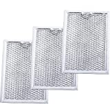 Ultra Durable WB06X10309 Microwave Oven Grease Filter 7-5/8' x 5' x 3/32' Replacement part by Blue Stars – Exact Fit For GE & Kenmore Microwaves - Replaces 910457 AP3668752 PS228019 - PACK OF 3