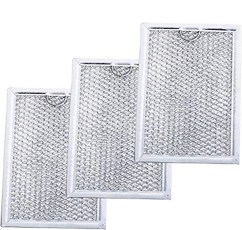 """Ultra Durable WB06X10309 Microwave Oven Grease Filter 7-5/8"""" x 5"""" x 3/32"""" Replacement part by Blue Stars – Exact Fit For GE & Kenmore Microwaves - Replaces 910457 AP3668752 PS228019 - PACK OF 3"""