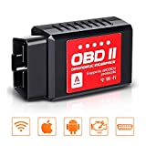 Audew OBD2 WiFi OBDII Wireless Auto Strumenti Diagnostici Collegare Via WiFi con iOS, Android & Windows Dispositivi
