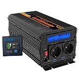 Convertidor 12v 220v inversor ONDA PURA 2500w y pico de 5000w transformador 12v 220v onda sinusoidal pura LCD con mando a distancia
