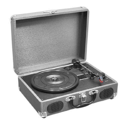 Pyle Upgraded Vintage Record Player - Classic Vinyl Player, Turntable, Rechargeable Batteries, MP3...