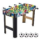 Piarner 36 pulgadas de 8 polos de mesa Fútbol de madera for niños futbolín Máquina 3-14 Tabla entrenamiento del juguete antiguo Años muchacho de la muchacha del entretenimiento for adultos Multiplayer