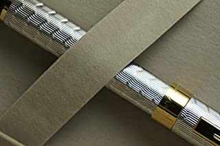 Sheaffer Prelude Signature Silver & 22kt Gold Snakeskin Pattern Medium Nib Fountain Pen Its Original Premium Design Gift B...