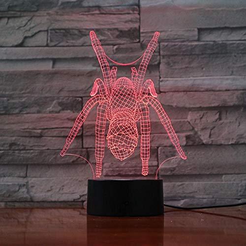 Nachtlampje Stemvervormer Spider-man-touch Klein Nachtlampje 7 Kleuren Touch Optische Foto Tafel Decoratie Lamp, Geschikt Voor Slaapkamer Bar Sfeerlamp