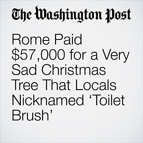 Rome Paid $57,000 for a Very Sad Christmas Tree That Locals Nicknamed 'Toilet Brush' copertina