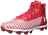 Under Armour Hammer Mid Rm Chaussures de football pour homme, Rouge (Red (600)/White), 39.5 EU