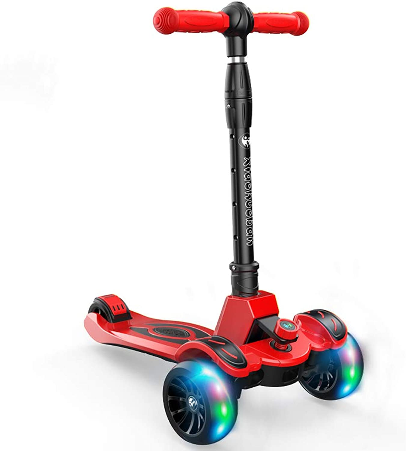 YXX-Scooter Aluminum Alloy Kick Scooters for Boys and Girls, Lightweight Folding Kids Scooter 7 Lb, 110lb Weight Capacity