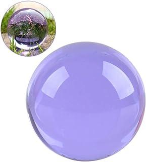 クリスタル クリア ボール 水晶球 水晶玉 多色透明 クリスタルボール レンズボール 装飾品(40mm,イエロー)