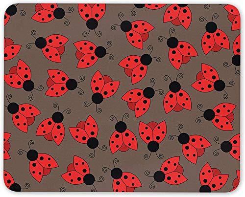 Alfombrilla de ratón, Pretty Ladybird Alfombrilla de ratón - Ladybug Insect Girls pc Computer