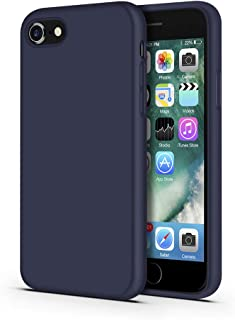 IMPACTSTRONG iPhone 7 Case/iPhone 8 Case, Silicone Heavy Duty Liquid Gel Shockproof Case with Soft Microfiber Cloth Cushion Compatible with iPhone 7 / iPhone 8 (4.7 inch) - Navy Blue
