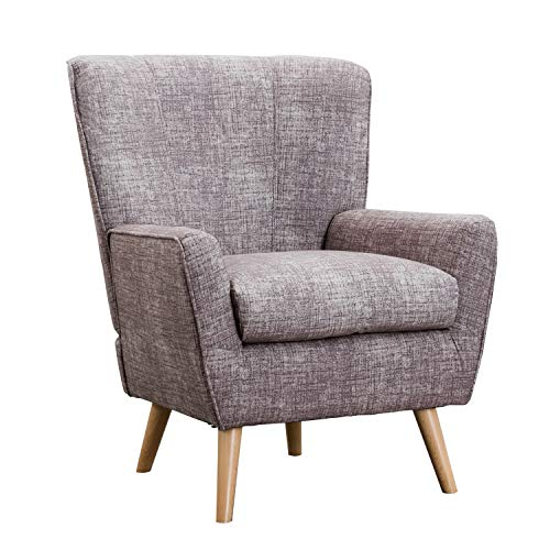 Fabric Armchair for Bedroom, Contemporary Accent Chair for Living Room, Reading Chair, 28 x 32x 37 inch,Grey