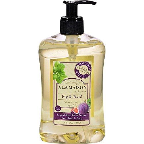 Jabón para manos y cuerpo, la figura y la albahaca, el 16,9 onzas líquidas (500 ml) - A La Maison de Provence