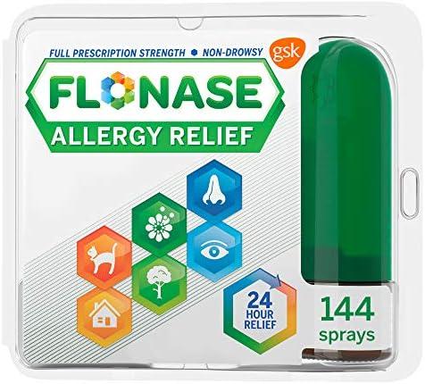 Flonase Allergy Relief Nasal Spray 24 Hour Non Drowsy Allergy Medicine 144 Sprays Pack of 1 product image