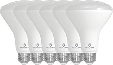 Great Eagle R30 or BR30 LED Bulb, 11W (75W Equivalent), 910 Lumens, Upgrade for 65W Bulb, 5000K Daylight Color, for Recessed Can Use, Wide Flood Light, Dimmable, and UL Listed (Pack of 6)