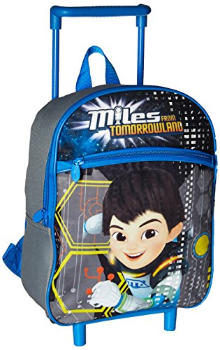 Disney Boys' Miles from Tomorrowland 12 Inch Rolling Backpack, Blue, One Size