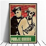 TanjunArt Public Enemy Musik Sänger Poster Hip Hop Rap