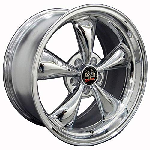 Partsynergy Replacement For 18' Rim Fits 1994-2004 Ford Mustang Bullitt Style Chrome 18x9 Wheel