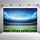 RUINI Football Field Photography Backdrop Football Field AuditoriumLight Themed Party Backdrop 7x5FT
