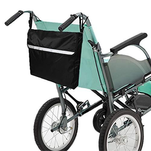 Mochila ligera para silla de ruedas Resistente al desgaste Lavable a máquina Impermeable Accesorio para silla de ruedas Negro para llevar artículos sueltos
