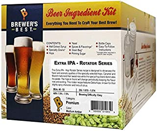 Brewer's Best Home Brew 5 Gallon Beer Ingredient Recipe Kit Extra IPA Hop Rotator Series - Zythos Hops