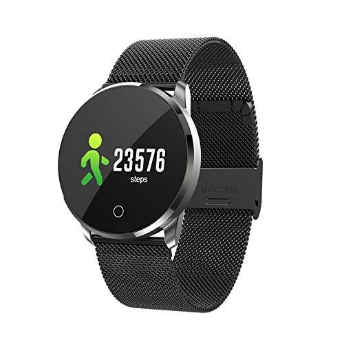 ONEVER Fitness Tracker, Bluetooth Smart Watch con Activity Tracker Cardiofrequenzimetro/Pedometro Step Counter/Calorie/Pressione sanguigna e Monitor del sonno (Silver)