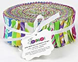 Soimoi 40 Unids Tie & Dye Imprimir Telas De Telas De Algodón Para Acolchar Craft Strips 2.5 X 42 Pulgadas Rollo De Jalea - Multicolor-Ov