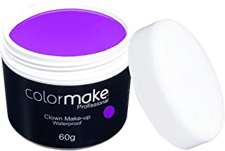 Clown Makeup Profissional 60G, Colormake, Roxo