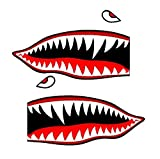 Set of 2 Remote Control (RC15) 3' Flying Tigars Shark Teeth RC Airplane Sticker Decal