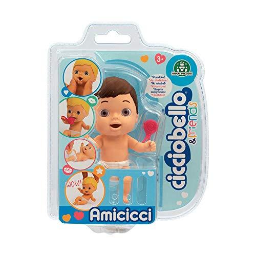 Giochi Preziosi Cicciobello- CCB Amicicci Blister 1, Tenero Bebè Eskimo, Mini Personaggio Morbidoso con Accessorio, Multicolore, CC002500