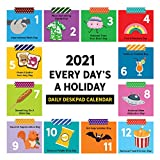 TF PUBLISHING 2021 Every Day's A Holiday Daily Desktop Block Calendar - Comical Art - Compact Page-A-Day Tear-Off Pages - Perfect for Home/Office Planning and Organization -Premium Paper 5.25'x5.25'