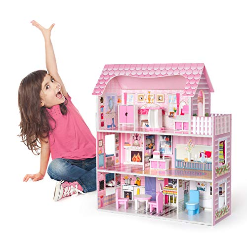 ROBOTIME Dollhouose for Toddlers Furniture and Accessories - Adorable...