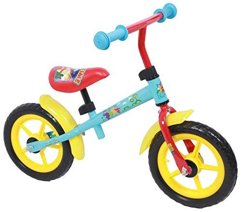 Bicicleta del Niño sin Pedales Teletubbies de Metal de 12 Pulgadas Rojo Azul Amarillo