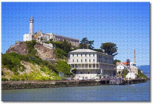 BZAHW Puzzle 1000 Pezzi Jigsaw Puzzle Gioco Grande Isola di Alcatraz, San Francisco Gioco per Famiglie e Puzzle Giochi