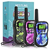 Nestling 3PCS Talkie Walkie Talky Walky Enfant 8 Canaux Radio Écran LCD Lampe Torche Fonction, 3KM de Long Distance Interphone, Cadeau De Noël Enfants Jouets