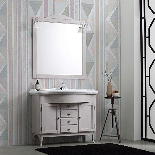 Mueble baño Shabby a terra cm 114con lavabo y espejo Nizza