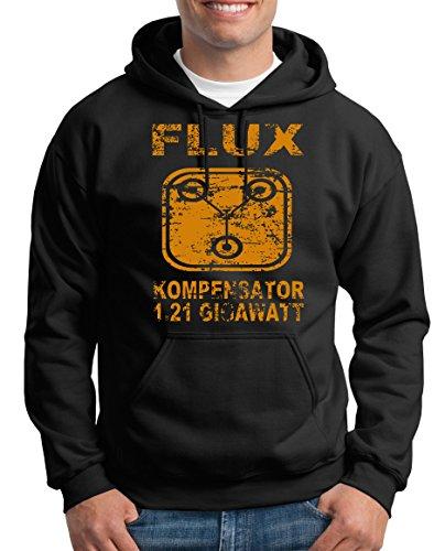 TShirt-People Flux Kompensator 1.21 Gigawatt Kapuzenpullover Herren XXXL Schwarz