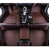 QWERQF Alfombrillas de Suelo de Coche Personalizadas Alfombra de pie de Suelo de Coche Alfombra de Estilo de Coche,para Aston Martin Virage Vantage DB9 V12 DBS Vanquish Rapide 2013-2019 Café