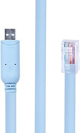 Cables puerto serie R01-S07PAR cineman Cable Hembra DB9 a RJ45 RS232 Cable Serial de 1,8 m 7FT Macho Cat5 LAN Rollover para el escáner de código de Barras Symbol CBA