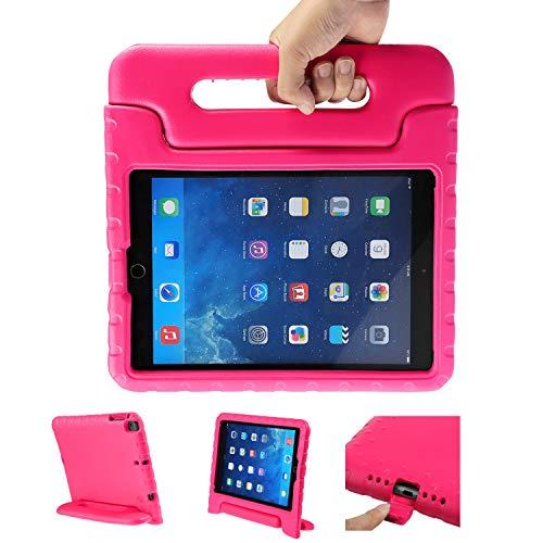LEADSTAR Kinder Schutzhülle für iPad 9.7 2017 2018, Kinderfreundlich Kinder Schutz Hülle Eva Case Leichte Stoßfeste Schutzhülle Tasche für Apple iPad Air/iPad Air2 / iPad 9.7 2017 2018 (Rosa)
