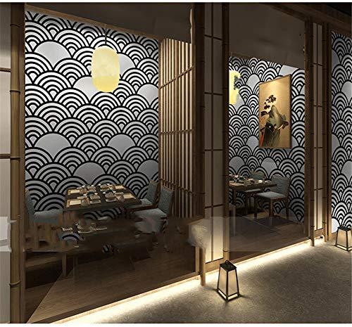AYMAYO Japanische Dekoration Tapete, Japanischer Stil, Persönlichkeit Japanische Welle Ukiyo-e Tapete