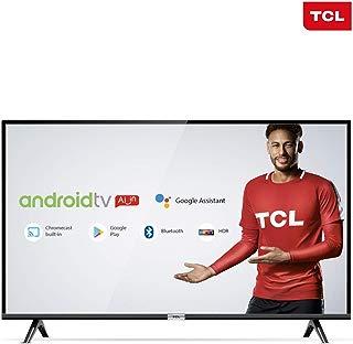 """Smart TV LED 43"""" Android TCl 43s6500 Full HD com Conversor Digital Wi-Fi Bluetooth 1 USB 2 HDMI Controle Remoto com Comando de Voz Google Assistant"""