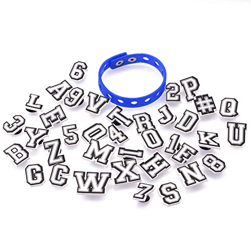 OROTER Shoe Charms Fits for Clog Sandals Decoration with Wristband Braceletfor Kids Boy Girls Men Women Party Favors Birthday Gifts Letters &Numbers PVC 37PCS