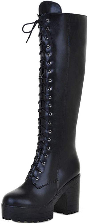Kaizi Karzi Women Block Heel High Boots Zip