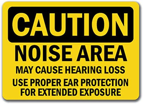 Caution Sign - Noise Area Ranking TOP17 Hearing Ear Required Ranking TOP10 Loss Protection