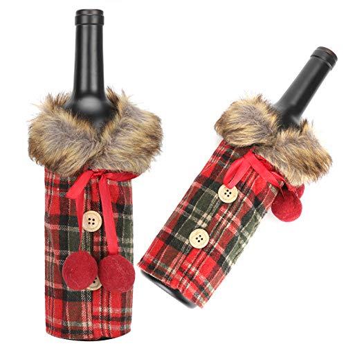 Ong Vestido De Botella De Vino, Suéter De Botella De Vino Lindo Decorativo, para La Fiesta De Navidad, Amantes del Vino, Reunión Familiar, Decoraciones para El Hogar