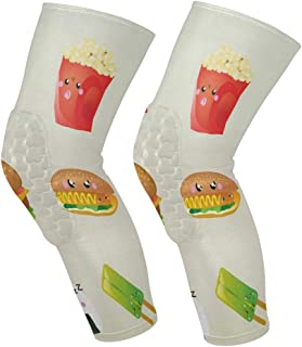 Knee Sleeve So Cute Cartoon Food Full Leg Brace Compression Long Sleeves Pant Socks for Running, Jogging, Sports, Crossfit, Basketball, Joint Pain Relief, Men and Women 1 Pair