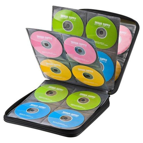 サンワサプライ『ブルーレイディスク対応セミハードケース(160枚収納・ブラック)』